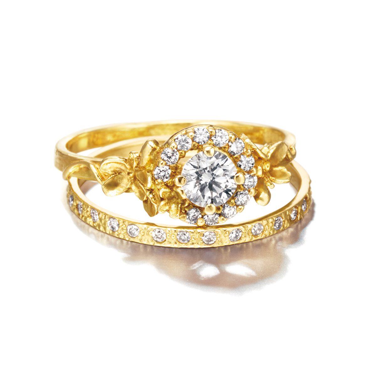 ALEX MONROE Spring Halo ring / Spring Eternity|Engagement Rings