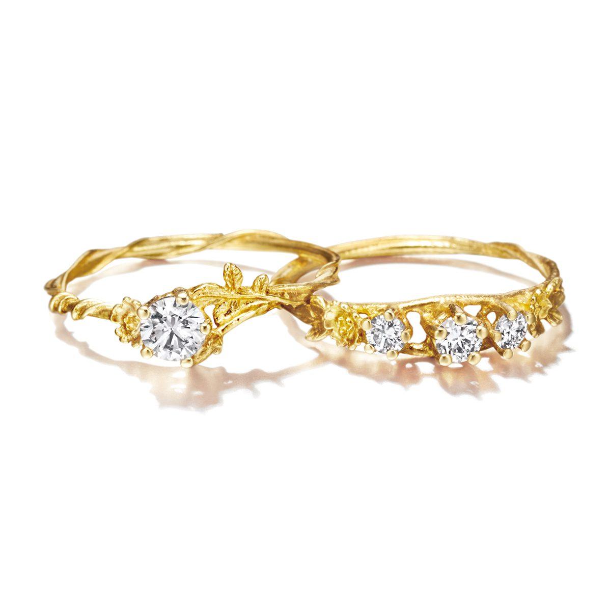 ALEX MONROE WILD ROSE Rosa Alba / Rosa Centifolia|Engagement Rings