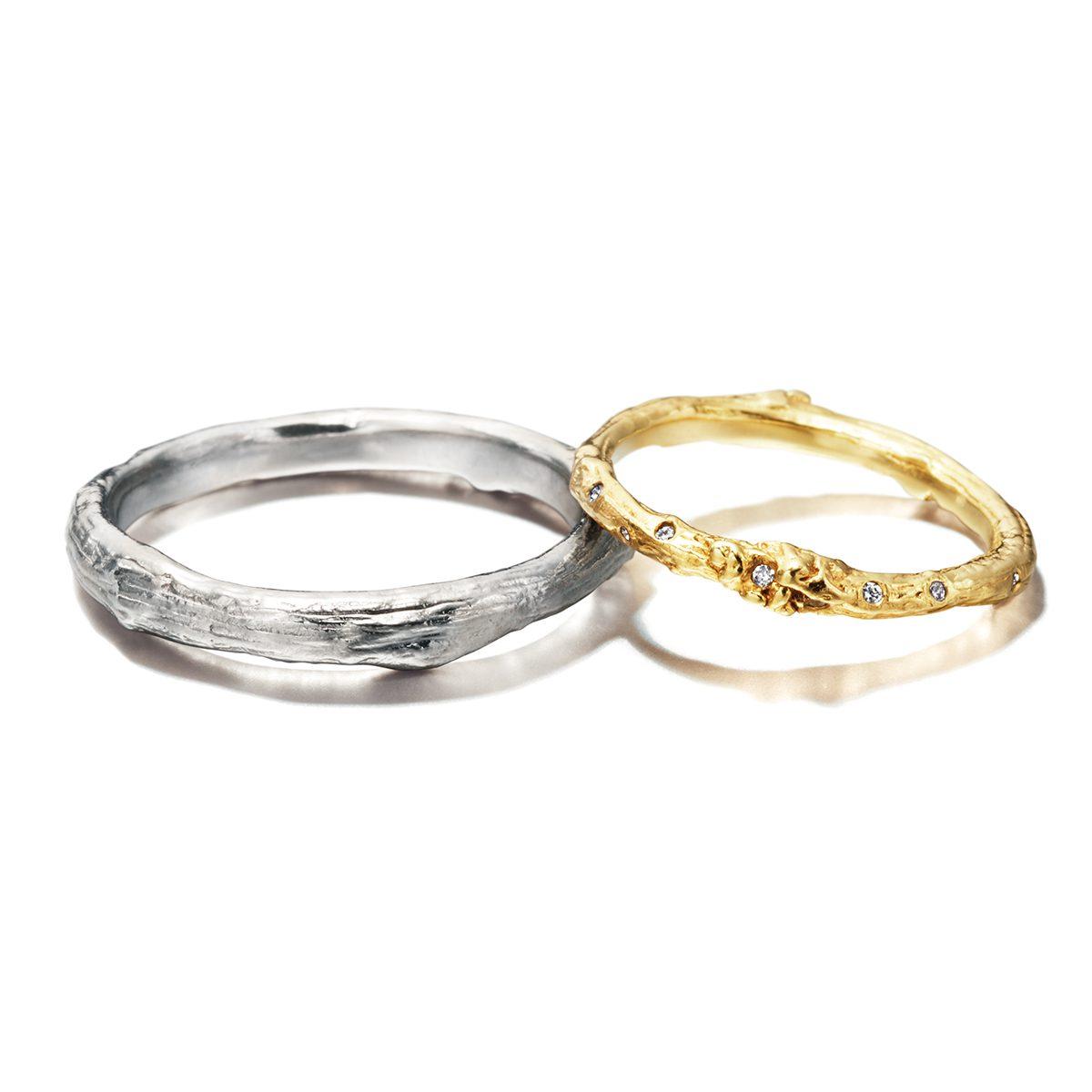 ALEX MONROE - Branch  Marriage Rings