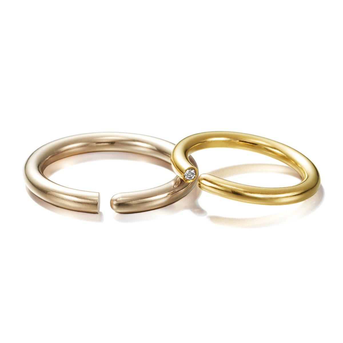 LIA DI GREGORIO - ROUND Marriage Rings