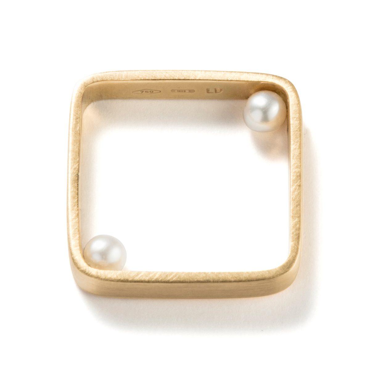 Lia Di Gregorio - Touch Ring-Square|Rings