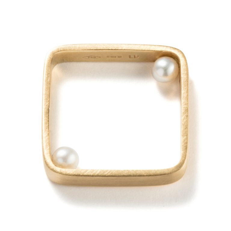 Lia Di Gregorio - Touch Ring-Square|Rings
