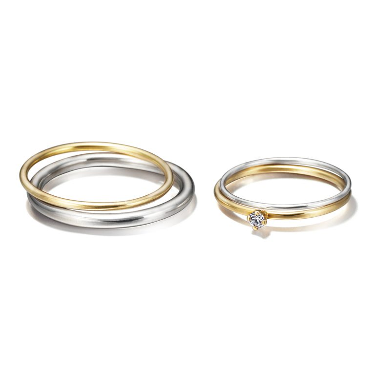 Sweat Pea - Sun and moon set|Marriage Rings