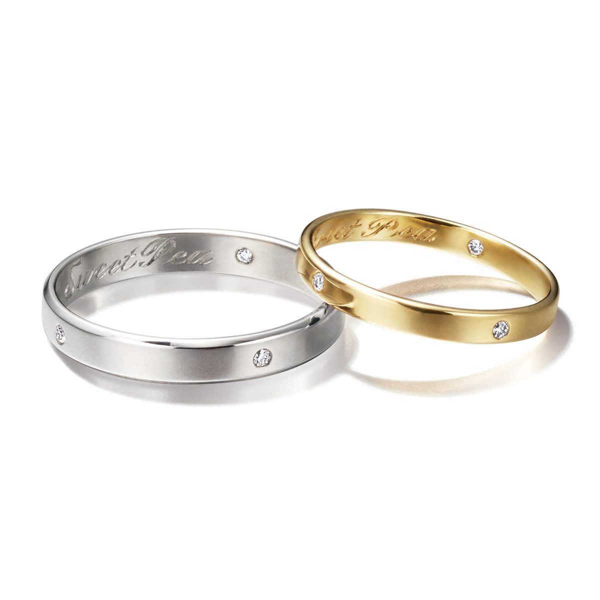 Sweat Pea - Unity in the Universe Marriage Rings