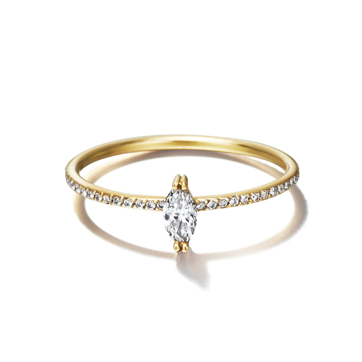 Sweat Pea Marquise Fairy Band|Engagement Rings