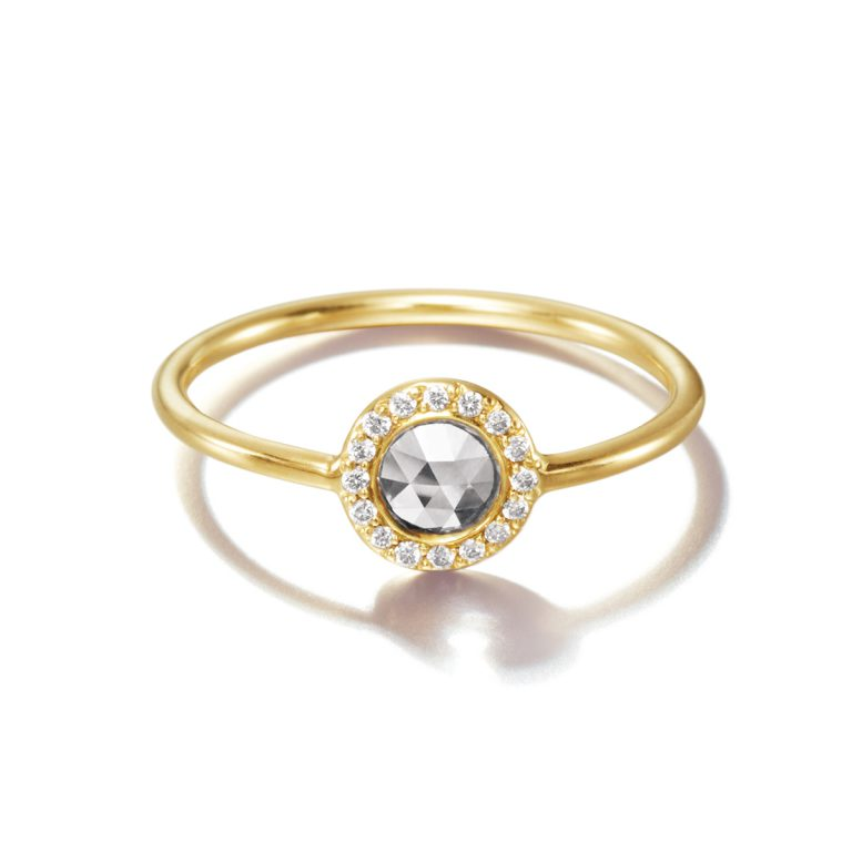 Sweet Pea Rose in Halo|Engagement Rings