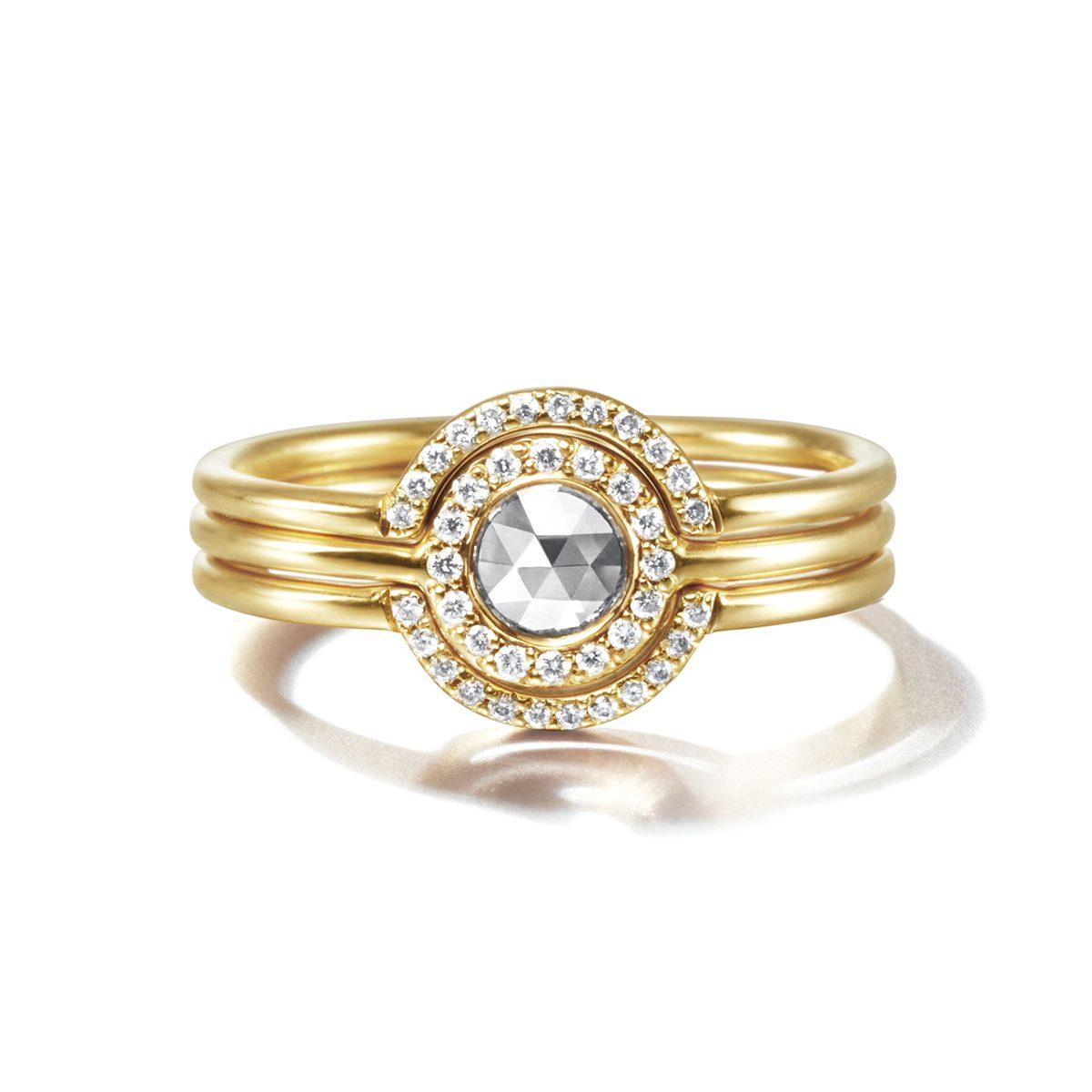Sweet Pea Eternal Rose in Halo|Engagement Rings