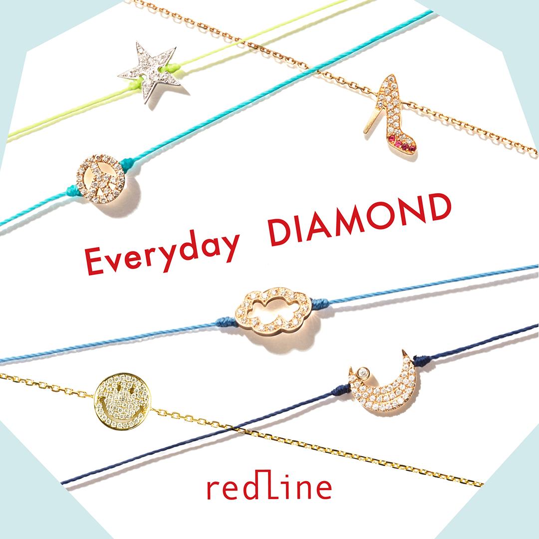 REDLINE レッドライン アッシュペーフランスビジュー HPFRANCEBIJOUX コードブレス ダイヤモンド