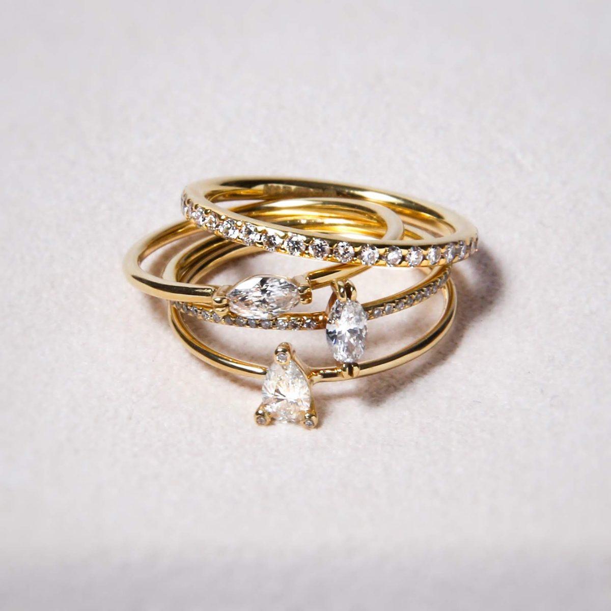 sweetpea スイートピー スウィートピー 結婚指輪 婚約指輪 マリッジ エンゲージ かさねづけ 華奢 ダイヤモンド マーキース ペアシェイプ エタニティ