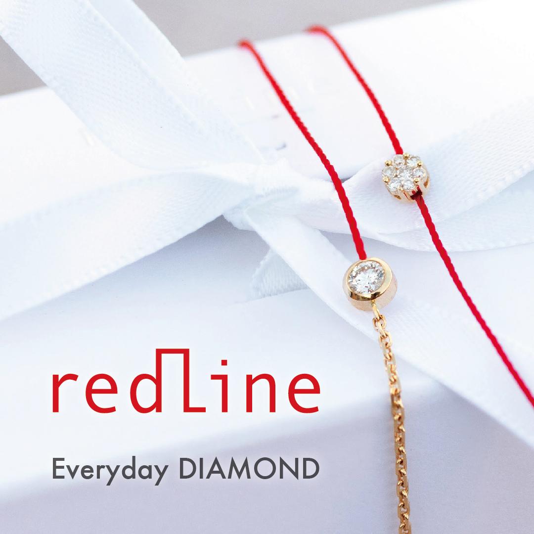 REDLINE レッドライン コードブレス ダイヤモンド 赤 RED CORD